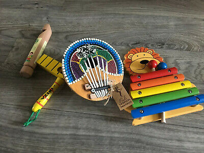 Wooden Instrument Toy Bundle Xylophone Whistle