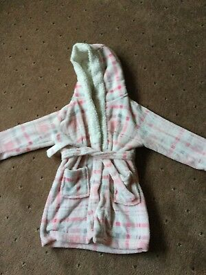 Girls Soft Dressing Gown Age 7 Years By Matalan