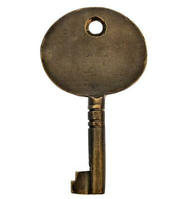 """Antique Key - BRASS Key with Large OVAL BOW 2½"""" - ref.k695"""