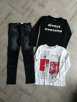 Next/Zara Boys Skinny Jeans And Top Bundle Excellent Condition Age 7/8 Years