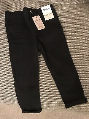 Baby Boys Black Skinny Stretch Jeans. Age 18-24months. Brand New With Tags