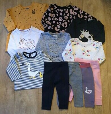 Used Baby Girl Large Clothes Bundle 9-12 Months NEXT John Lewis Mini Club M&S