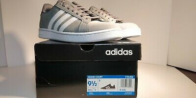[25% OFF DISCOUNT] Adidas Grand Court 'Grey/White' - New in Box - Size 9.5M -