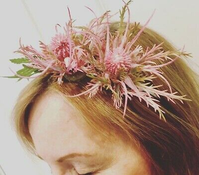 Stevie Thistle Floral Fascinator Hairband Wedding