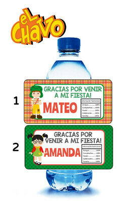 10 EL CHAVO PERSONALIZED BIRTHDAY PARTY FAVORS WATER BOTTLE LABELS WRAPPERS