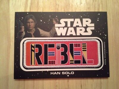 Star Wars Journey to The Rise of Skywalker Jumbo Patch Card Han Solo