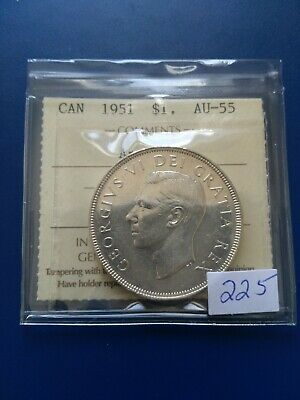 1951 Arnprior Canadian Silver Dollar ($1), ICCS Graded AU-55, No Reserve!