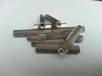 "1/4"" Hex x 1-1/2"" Length x 8-32 Thread Female Standoff, Aluminum (Qty 5-10-20)"