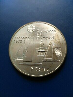 1976 Canada Montreal Olympic Silver $5 Coin, No Reserve!