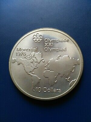 1976 Canada Montreal Olympic Silver $10 Coin, No Reserve!