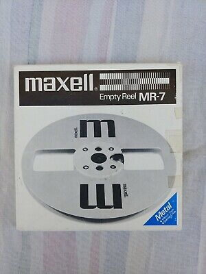 Maxell MR-7 Empty Metal Tape Reel For 1/4 Inch Tape w/box