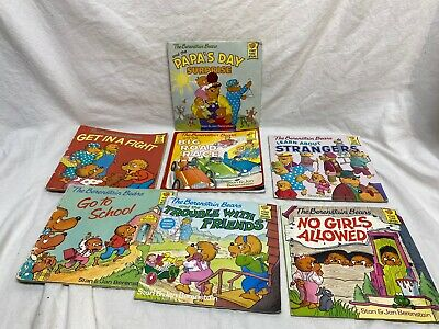 Berenstain Bears Paperback Book 7 Books Fight Strangers Friends