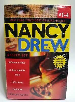 Nancy Drew Girl Detective Sleuth Set: Without a Trace/A Race Against Time #1-4