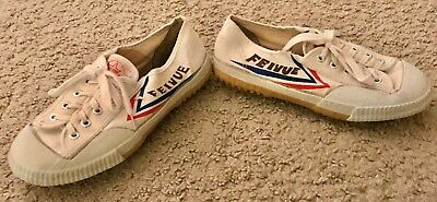 Feiyue Top One Lo Classic White Canvas Sneaker Shoes Sz 6.5 Men/8 Women Kung Fu