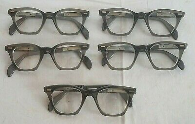 Lot Of 5 Vintage Nerd Grumman Safety Glasses 'New Old Stock'