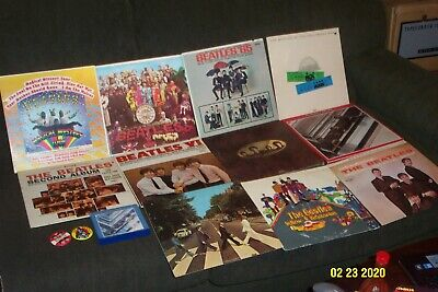 THE BEATLES 11 LP LOT SGT PEPPER'S, ABBEY ROAD MAGICAL MYSTERY TOUR, 2nd ALBUM