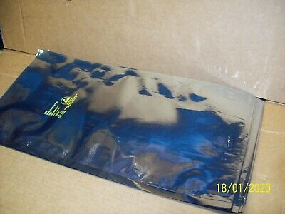 """LOT OF 100 ESD STATIC SHIELDING 9"""" X 18"""" anti static bags 8"""" opening end. USED"""
