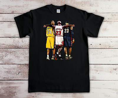 Kobe Bryant Michael Jordan Lebron James T Shirt New Quality