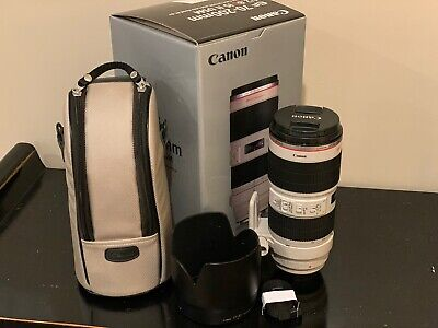 Canon EF 70-200mm f2.8L IS II USM Lens w Box, Pouch & Paperwork