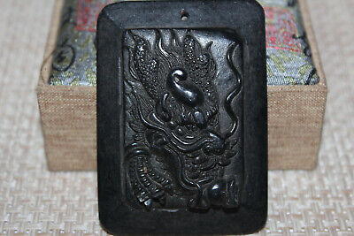 Chinese red mountain culture old jade carving amulet
