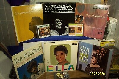 ELLA FITZGERALD 6 LP LOT w BEST OF, WHISPER NOT, SINGS JEROME KERN, RODGERS HART
