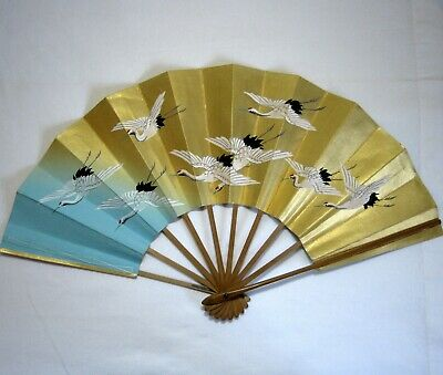 "Vintage Geisha Odori 'Maiogi' Folding Dance Fan made by Kyoto""KYOSENDO"""