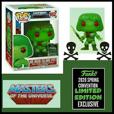 Funko Pop Mou: He-Man (Slime Pit) #952. Eccc 2020 Shared Exclusive. Presale.