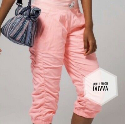 "IVIVVA Dance ""Live To Move"" Crop Jogger Track Gym Coral Pink Pant Girl Size 14"