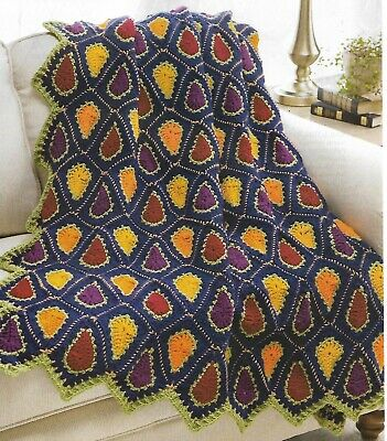 Autumn Prism Throw Afghan crochet PATTERN INSTRUCTIONS