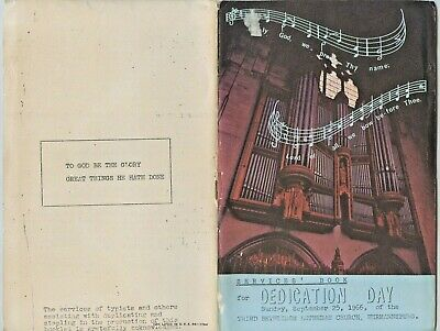 1966 SERVICES BOOK FOR DEDICATION DAY LUTHERAN CHURCH HERMANNSBURG ALBRECHT i40.