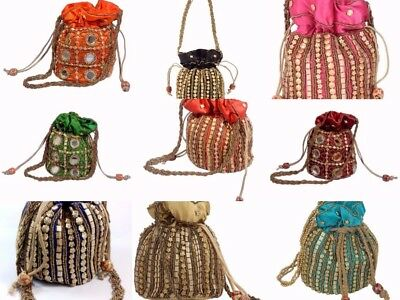Assorted 32 Pcs Party Clutch Potli Bag Traditional Ethnic Bridal Purse