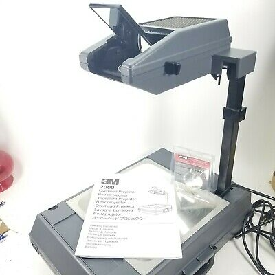3M Portable Overhead Transparency Projector,Foldable, Brown Briefcase Model 2000