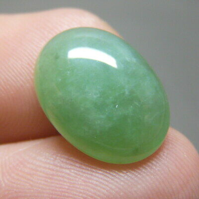 7.5 ct Genuine Jadeite Jade (Natural-Type A) Light Green-White Cabochon