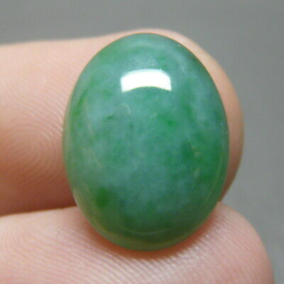 7.95 ct Genuine Jadeite Jade (Natural-Type A) Light Green-White Cabochon