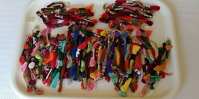 Vintage bundle of 106 quality embroidery cottons - multi colours