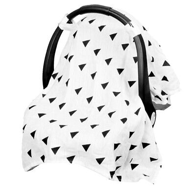 Universal 2 in 1 Large Infant Car Seat Canopy & Nursing Cover Up for Girls Boys