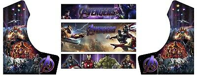 Marvel Avengers Bartop Arcade Side Art Arcade Cabinet Graphics Marquee Cpo Kit