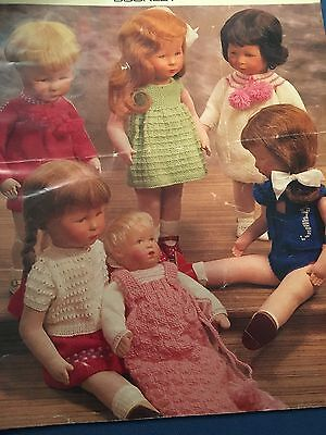 Knitting Patterns Dolls Clothes 12 Pages Various Designs Vintage
