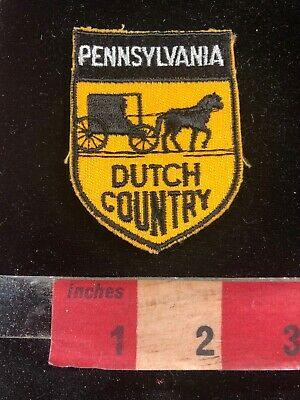 Vtg Pennsylvania Dutch Country Embroidered Cloth Patch 02RJ