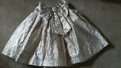 Girls Gold NEXT Special Occasion Skirt Age 5 VGC
