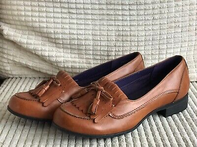 Tan Pure Leather Hotter Comfort Concept Ladies Brand New Size 4 Slip Ons