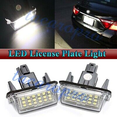 LED License Plate Light Kit Assy Lamp For Toyota Camry Highlander Avalon Prius C