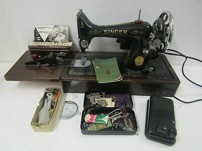 SINGER Model 99K Motorised Electric Foot Pedal Sewing Machine - Working