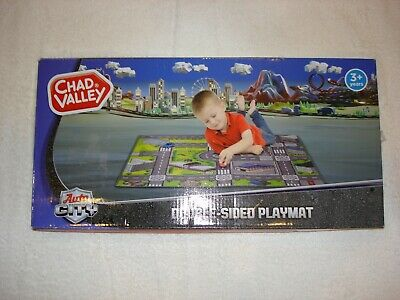 """""""New"""" Chad Valley Auto City Double Sided Playmat"""