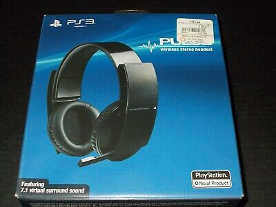 Official Sony PS3 PlayStation 3 Pulse Wireless Stereo Headset 7.1 New Sealed