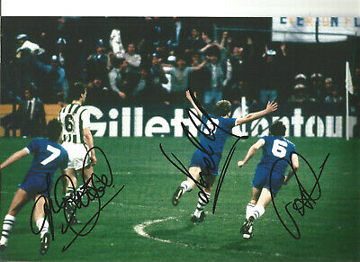 Andy Gray Trevor Steven Peter Reid Everton signed authentic football photo SS208