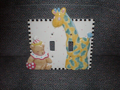 Mary Engelbreit Ceramic Nursery Double Light Switch Plate Cover