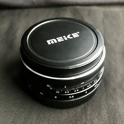 Meike 28mm 2.8 prime lens for Canon EF-M APS-C mirrorless, boxed
