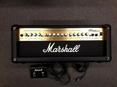 Marshall MG100HDFX 100 watt electric guitar amplifier head,with footswitch, used