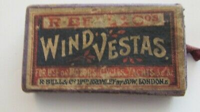 Old Box Of Wind Vestas Matches Early 20Th Century.